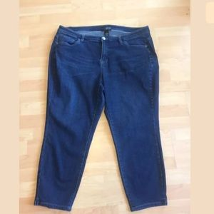 Lane Bryant dark ankle skinny jeans size 20